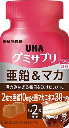 UHAグミサプリ 亜鉛&マカ コーラ味 ボトルタイプ 60粒 30日分