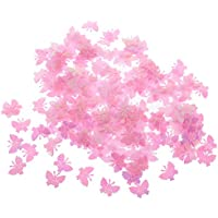Fenteer 紙吹雪 ピンク+ ブルー 蝶 バタフライ ?カード作成 DIYクラフト