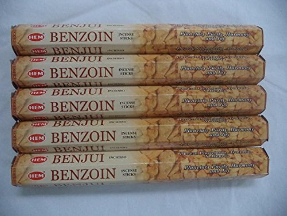 不透明なレールヒントHemベンゾイン100 Incense Sticks (5 x 20スティックパック)