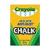 Crayola Llcチョークanti-dustホワイト12ct