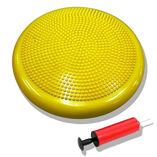DABADA(ダバダ) バランスディスク バランスクッション 体幹クッション ポンプ付き (イエロー1個)