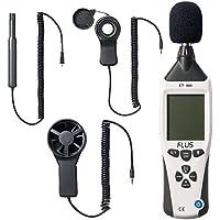 サンワダイレクト 騒音計/温湿度計/照度計/風速計 1台5役マルチ測定器 電池駆動 専用ケース付 400-TST965