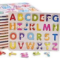 幼児期のゲーム 子供のための木製の就学前の単語形状のパズルボード教育パズル