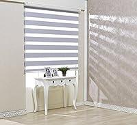 サイズ オーダーメイド, [Winsharp Blackout Ellis, White, W 80 x H 210 (CM)] 遮光ロールスクリーン 窓 ブラインド & カーテン 簾