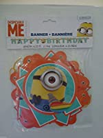 Minions Despicable Me Birthday Banner 6.25フィートLong – 紙