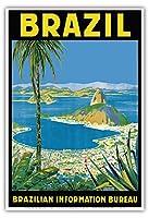 ブラジル - リオデジャネイロ - ブラジル情報局 - ビンテージな世界旅行のポスター によって作成された ワールドミロ・ゴンサルベス・クリスティアーノ c.1950s - アートポスター - 33cm x 48cm