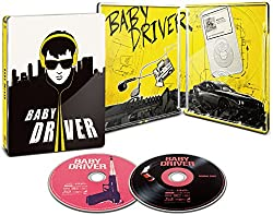 【Amazon.co.jp限定】ベイビー・ドライバー スチールブック仕様(初回生産限定)(B3ポスター付き) [Steelbook] [Blu-ray]