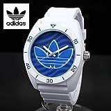 ADIDAS(アディダス)腕時計 スポーツウォッチ ミドルサイズ ホワイト×ブルーウェイブ SANTIAGO サンティアゴ ADH3195 白 青 ボーイズサイズ [並行輸入品]