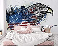 KAHSFA カスタム壁紙アメリカンイーグルテレビの背景の壁3Dのリビングルームの寝室の家の装飾3Dの壁紙-250cmx175cm