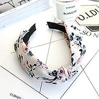 AKDSteel Women Girls Headband Top Knot Turban Headband Cross Bandage Scarf Hair Accessories 15#