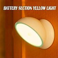 usxiaobideng 360度回転ボディセンサー夜間ライトLED省電力赤外線センサーモーションセンサーランプキャビネットバッテリー照明 H56976987