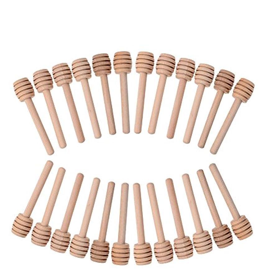 アヒル霜強いLianLe 24pcs Honey DipperポータブルWooden Jam Honey Sticks for Honey Jar Dispense Drizzle Honey