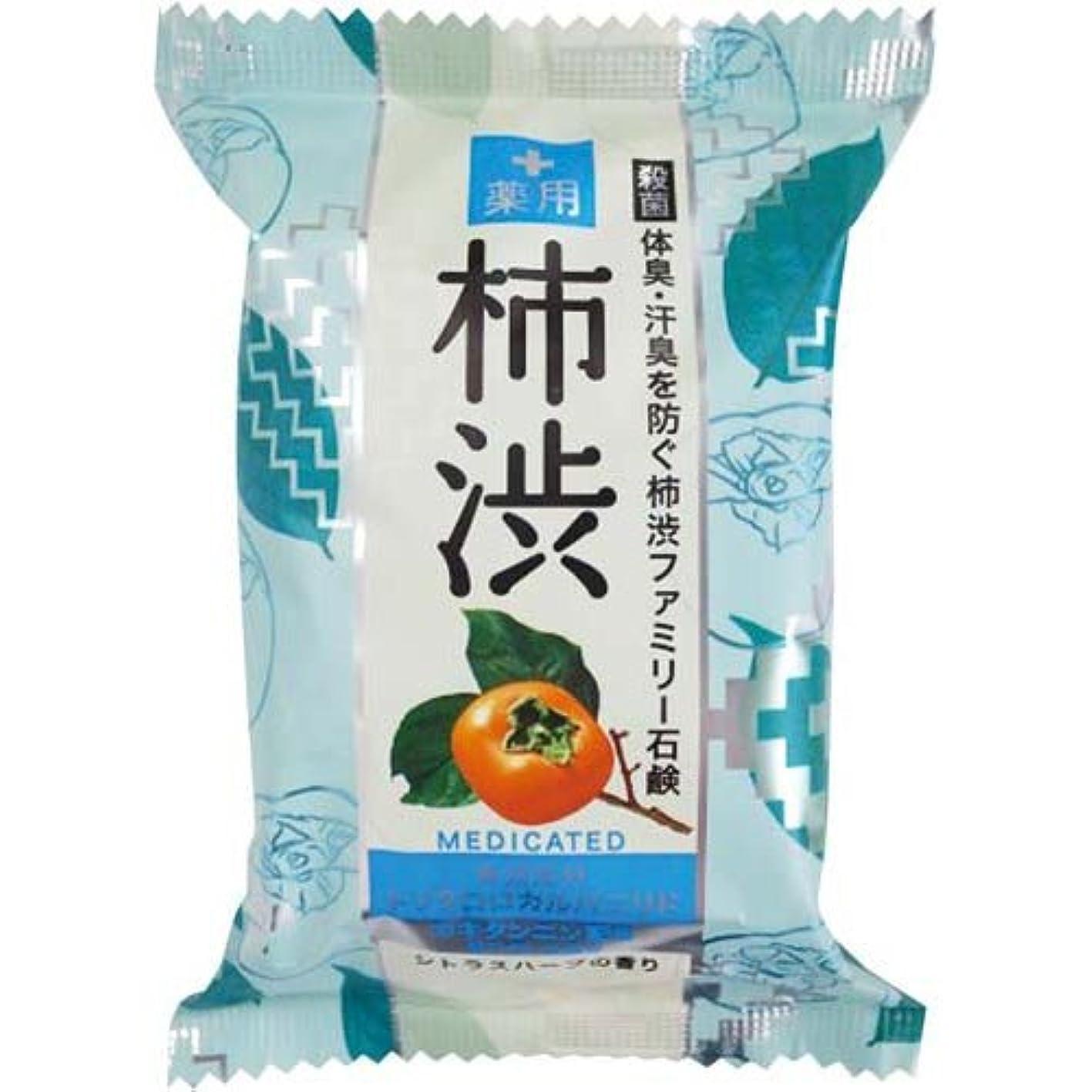 機動なる石化するペリカン石鹸 薬用ファミリー柿渋石鹸×6個×4箱