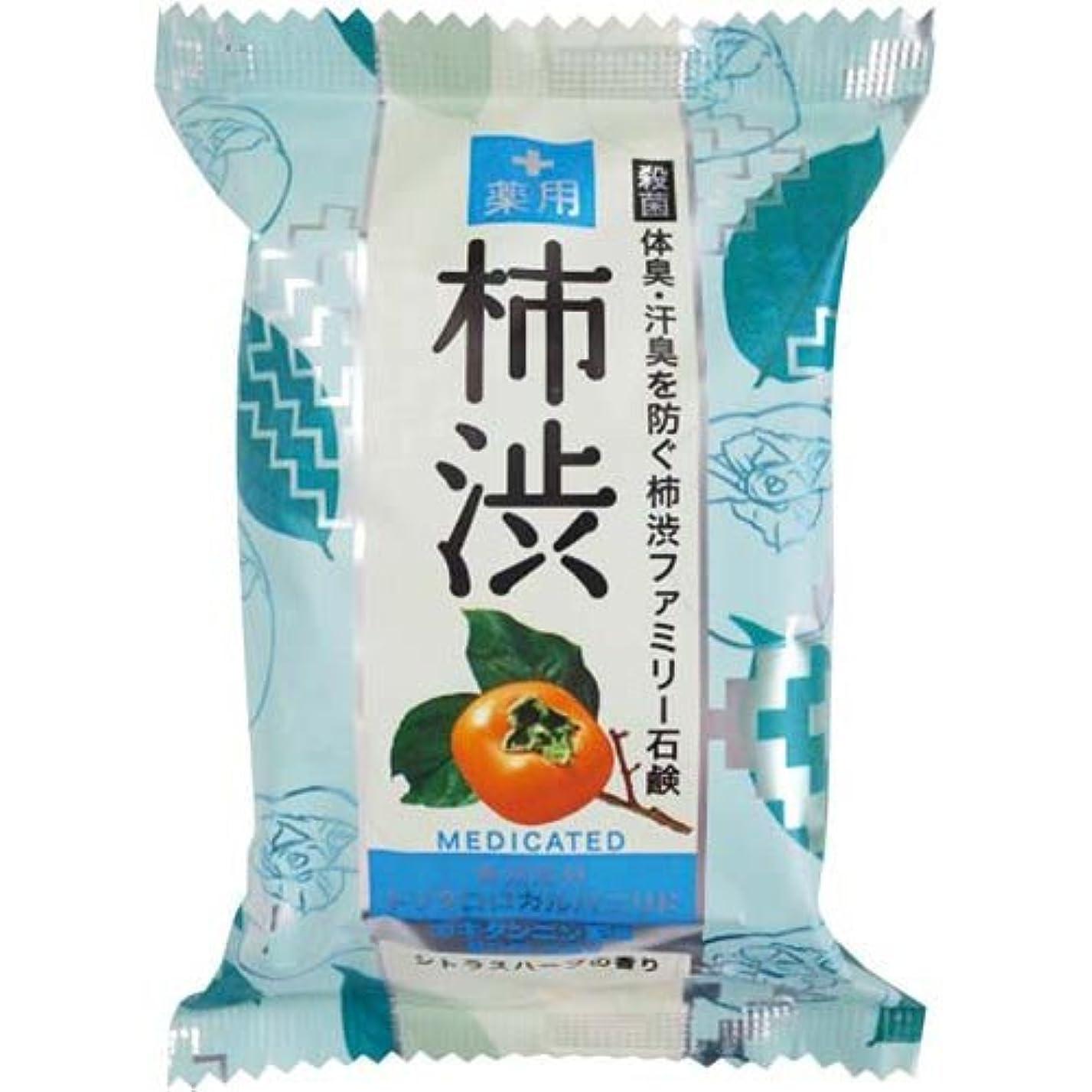 品揃え艶ビジネスペリカン石鹸 薬用ファミリー柿渋石鹸×6個×4箱
