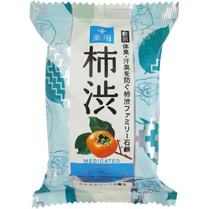 台無しにフィッティング氏ペリカン石鹸 薬用ファミリー柿渋石鹸×6個×4箱
