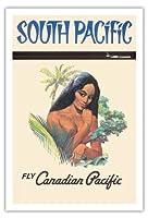 南太平洋 - カナディアンパシフィック航空で飛ぶ - ビンテージなハワイの旅行のポスター c.1960s - アートポスター - 76cm x 112cm
