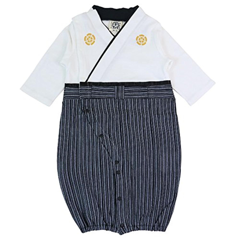 ベビー 新生児 ベビー服 ツーウェイオール 兼用ドレス セレモニードレス 袴風 男の子 カバーオール 白 50-70 30670506OW5070