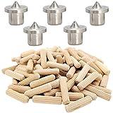 Wotion 木ダボ 8☓30mm 約100個 ダボ用マーキングポンチ8mm 5個 木釘木工ダボ 木 ダボ 家具 DIYつなぎ ジョイント