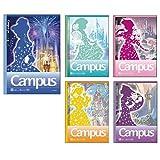 サンスター文具 ディズニー ノート キャンパス ドットB罫 プリンセス 5冊パック S2624958