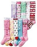 (コナミヤ) Konamiya 女の子 靴下 ガーリイな姫系ハイソックス 10足セット のびのびソックス 子供 キッズ ガール15-19cm