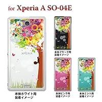 【Xperia A SO-04E】【so04e】【docomo】【ケース】【カバー】【スマホケース】【Clear Arts】【クリアケース】【花とリス】 22-so04e-ca0089