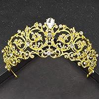 Stylish and Elegant Crown Princess Crown Crystal Big Hoop Crown Performances Birthday Party Senior Royal Treasures Luxury Hair Accessories Headdress Children wsd