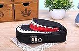 CHILENO JAPAN 大容量 多機能 おしゃれ かわいい かっこいい サメ ペンケース 鍵付き 安心 ペンケース かわいい かっこいい 人気 迷彩 デザインの 筆箱 学生 小学生 中学生 高校生 文具 (ブラック)