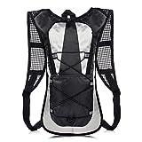 KISSTYLE 自転車リュック ハイドレーション アウトドア 通気性 防水性 反射シール 多機能 登山 トレッキング スポーツ サイクリング メッシュバッグ バックパック