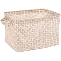 Neoviva 折り畳み式収納ボックス2点セット 防水生地  洗面用具小物入れ(カーキ) 洗面用具収納