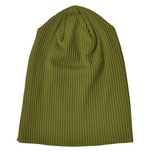Nakota (ナコタ) アウトラストリブ ワッチキャップ 帽子 日本製 ニット帽 柔らか素材と優しい被り心地と美シルエット。 ビーニー ニット 大きいサイズ メンズ レディース ニットキャップ 春 夏 秋 冬 (グリーン(34))