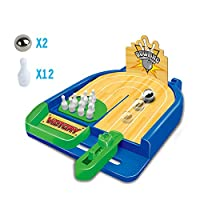 Langba  卓上 ボウリングゲーム  テーブル ボウリングゲーム ミニボウリングゴール  親子ゲーム 面白い ストレス解消 リラックスおもち スポーツ玩具 小型 卓上で遊べるテーブルゲーム