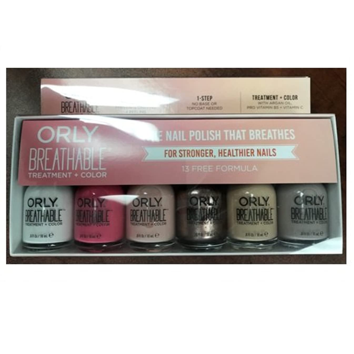 Orly Breathable Nail Lacquer - Treatment + Color - 6 Piece Kit #2 - 18ml / 0.6oz Each