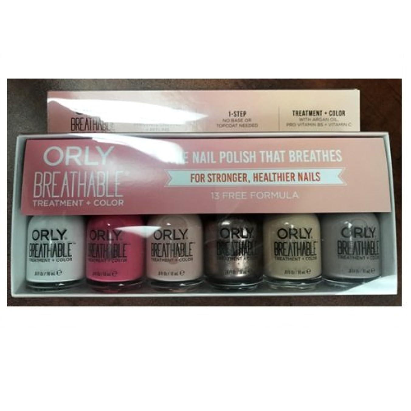 分岐するまともな全国Orly Breathable Nail Lacquer - Treatment + Color - 6 Piece Kit #2 - 18ml / 0.6oz Each