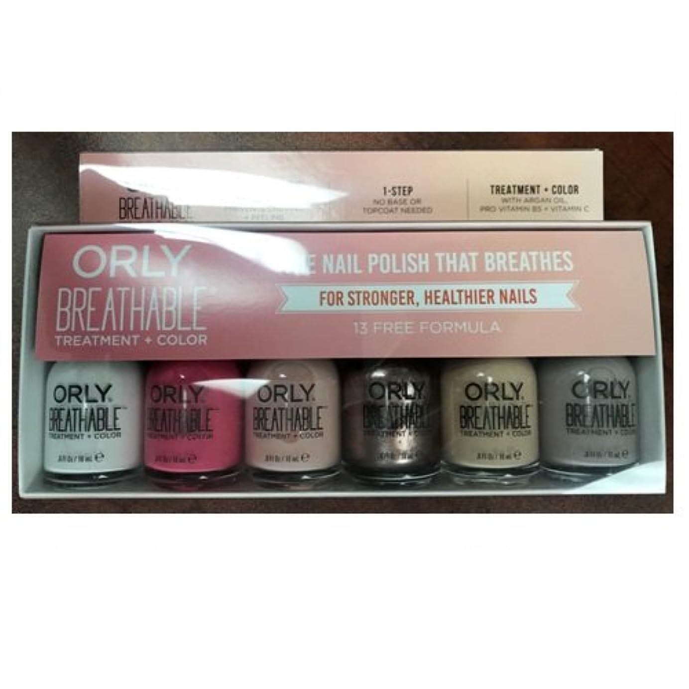バルコニー生活異議Orly Breathable Nail Lacquer - Treatment + Color - 6 Piece Kit #2 - 18ml / 0.6oz Each