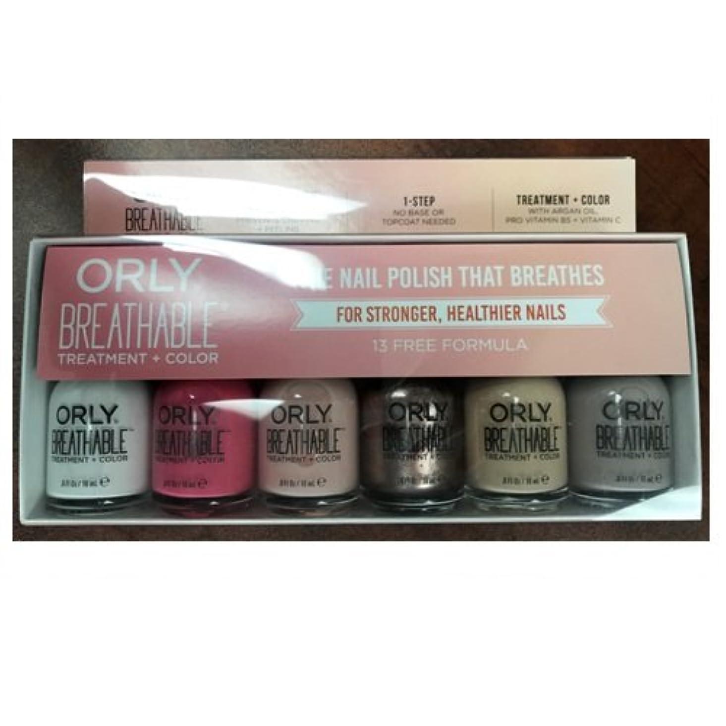 玉ねぎスペル避けるOrly Breathable Nail Lacquer - Treatment + Color - 6 Piece Kit #2 - 18ml / 0.6oz Each