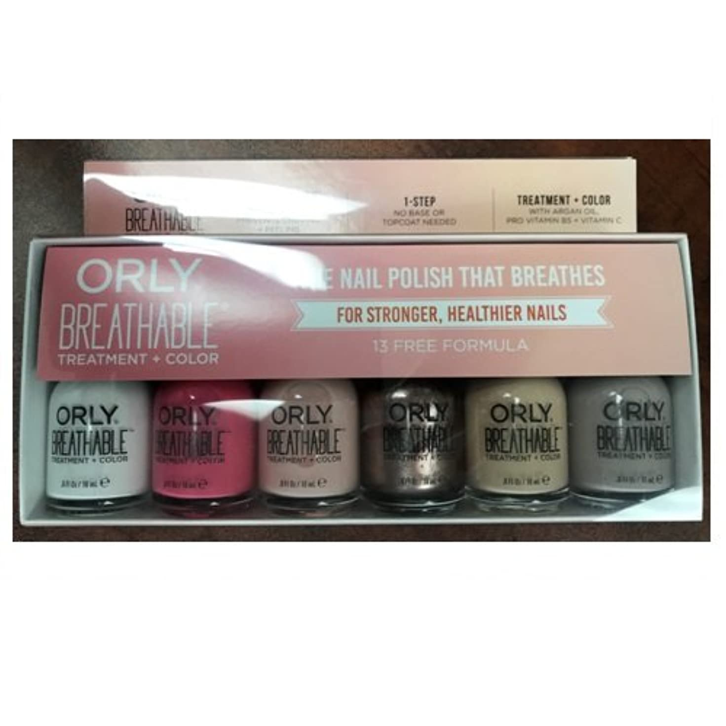 気怠いタイプトンOrly Breathable Nail Lacquer - Treatment + Color - 6 Piece Kit #2 - 18ml / 0.6oz Each