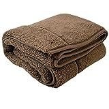 まくら株式会社 もこもこ毛布 シングル ブラウン 140×200cm 二枚合わせの温もり