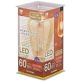 アイリスオーヤマ LED電球 フィラメント 口金直径26mm 60W形相当 キャンドル色 全配光タイプ ST形 レトロ風琥珀調ガラス製 LDF7C-G-FK