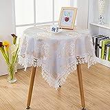 英国スタイル 花テーブルクロス ティーテーブル 長方形 レース テーブルクロス 120CM x170CM ゴールデンピオニー