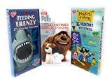 Happy Valentine 's Day 27Feeding Frenzy Lenticularカード、32The Secret Life of Pets、35Pirates Haven withステッカー