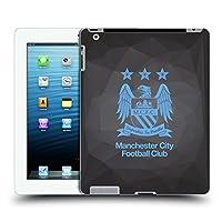 オフィシャルManchester City Man City FC ブラック・ジオメトリック フル・スカイブルー クレスト・ジオメトリック ハードバックケース Apple iPad 3 / iPad 4