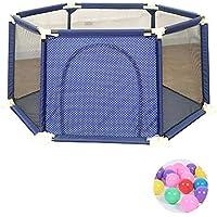 ベビーサークル ポータブル子供たちは200個のボールと庭屋内ベビーベビーサークルホーム子供の安全フェンスを再生するプレイヤード (サイズ さいず : 180x65.5cm)