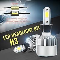 Wiseshine H3 6000K 72W 高効率 LED ヘッドライト一体型 COB led 電球 canbusデザイン 7200 Lumen(クールホワイト)