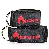 ネオプレン アンクルストラップ(2個入り) あなたの腹筋、脚、太もも、大殿筋のケーブルマシンワークアウト(トレーニング)を増大 D リング付の高耐久性のフィットネスカフスと強力なマジックテープ付 男女兼用 Neoprene Ankle Straps By Ignite Fitness (2 Pk), Intensify Your Machine Cable Workouts for Abs, Legs, and Glutes - Durable Fitness Cuffs with D Ring and High Strength Velcro - Fits Both Men and Women