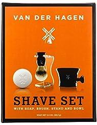 Van der Hagen Premium 4 Piece Shave Set ファンデルハーゲンプレミアム4ピースシェーブセット [並行輸入品]