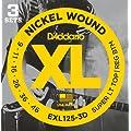 D'Addario ダダリオ エレキギター弦 ニッケル SuperLight Top/Regular Bottom .009-.046 EXL125-3D 3set入りパック 【国内正規品】