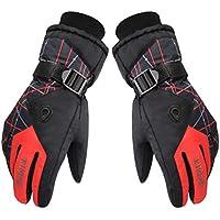 メンズスポーツウェアOutdoors手袋厚み付け通気性スキー/サイクリンググローブレッド