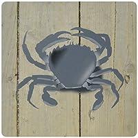 3drose LLC 8x 8x 0.25インチマウスパッド、ライトブルーのイメージCrab On Old White Washed木製–( MP _ 171667_ 1)