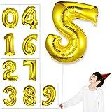 Takefuns 40インチ アルファベット 風船 飾り品 誕生日パーディー ヘリウム アルミ箔 マイラー 艶ゴールデン(5)