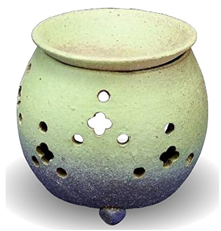 十分ではない色冷凍庫常滑焼 茶香炉(アロマポット)径10×高さ11.5cm
